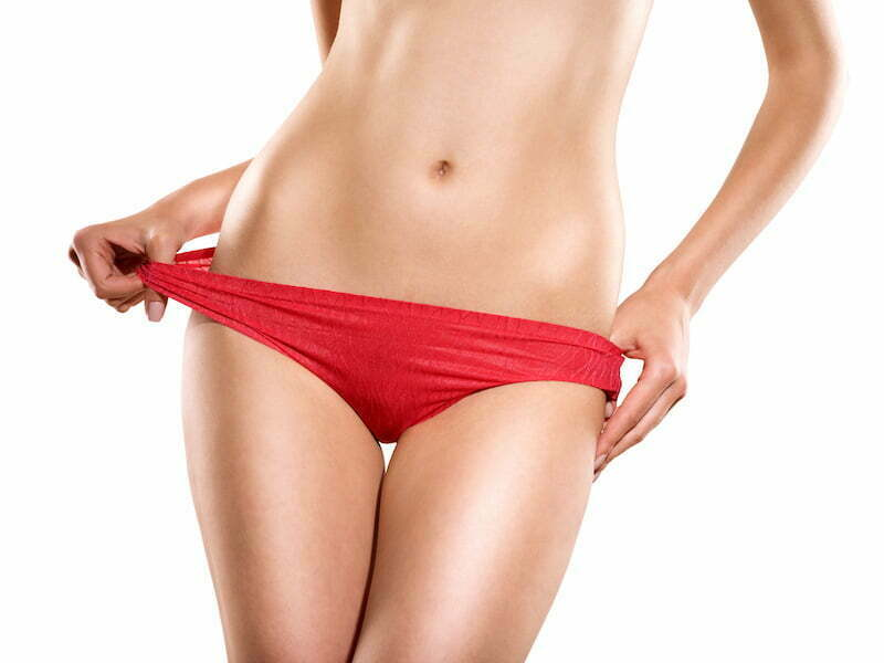 Red white streak panties