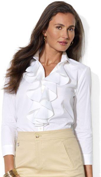 Ruffle front shirt