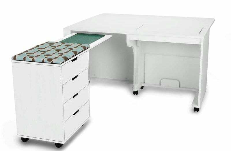 Sewing cutting table with storage