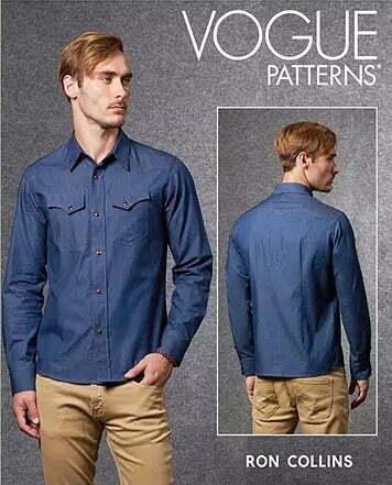 Sewing pattern for men shirt