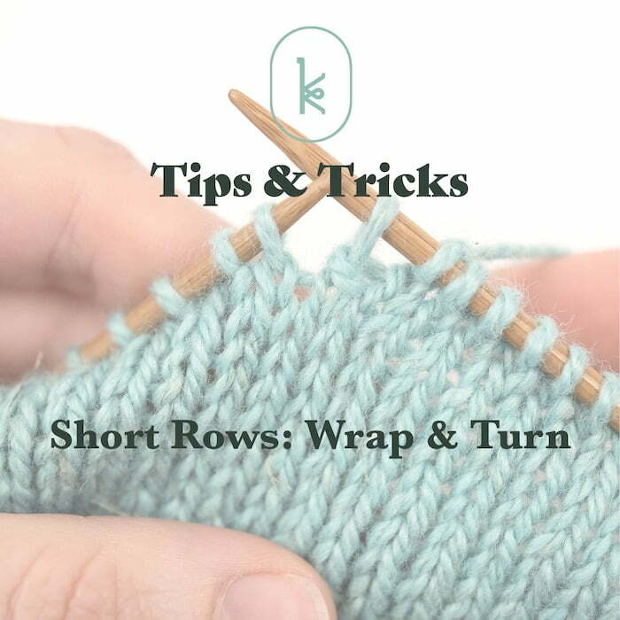 Short row shaping wrap and turn