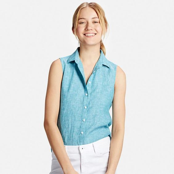 Sleeveless shirts for women