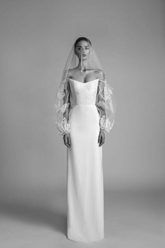 Statement sleeve wedding dress