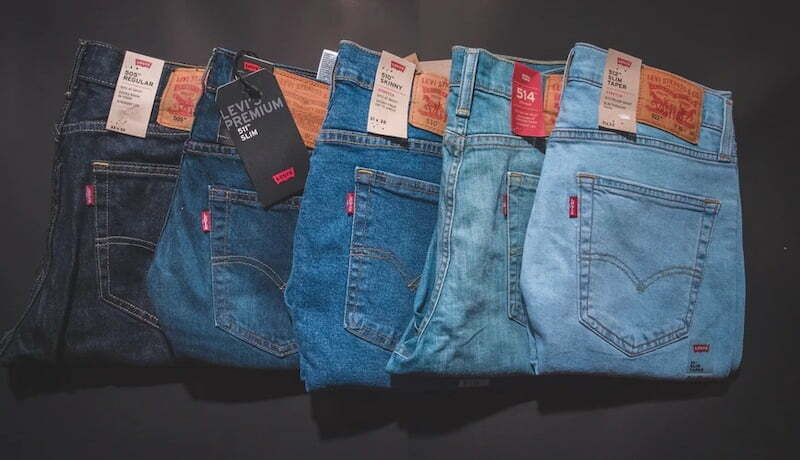 Types of blue jeans