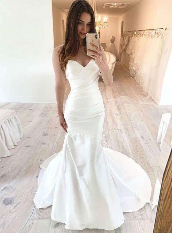 Types of mermaid bridal dresses