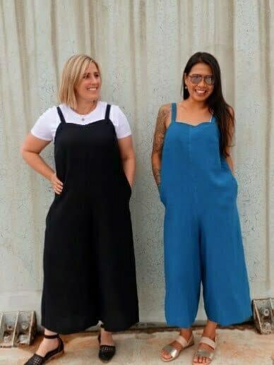 Wide leg jumpsuit sewing patterns