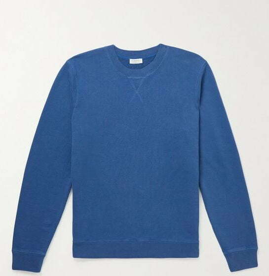Blue cotton jersey sweatshirt