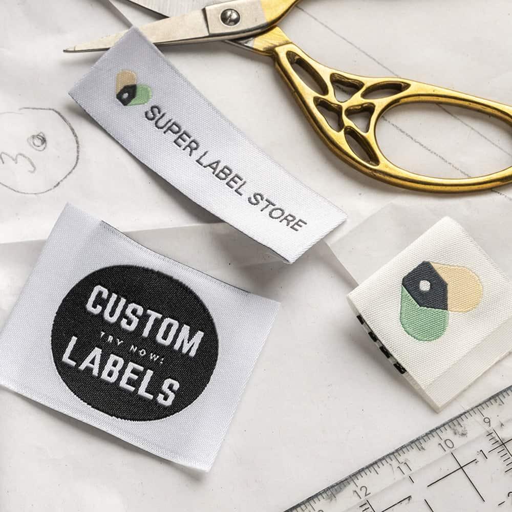 Custom clothing labels low minimum