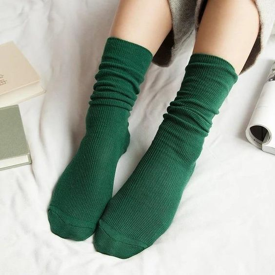 Dark green leeds socks