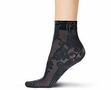 Flower bellflower socks black