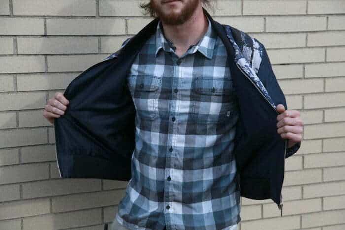 Free reversible jacket sewing pattern for men