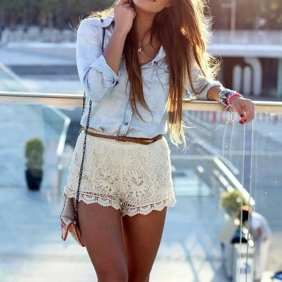 Lace shorts for summer