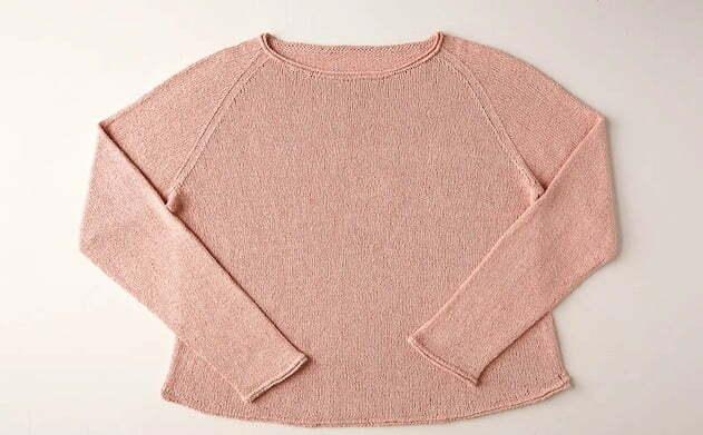 Lightweight raglan pullover cattail silk