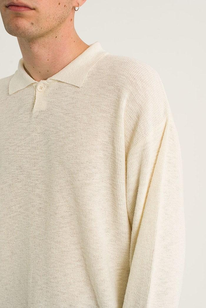 Long sleeve polo knit sweater