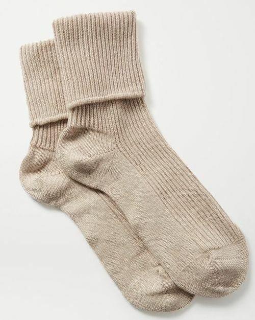 Neutral ribbed socks