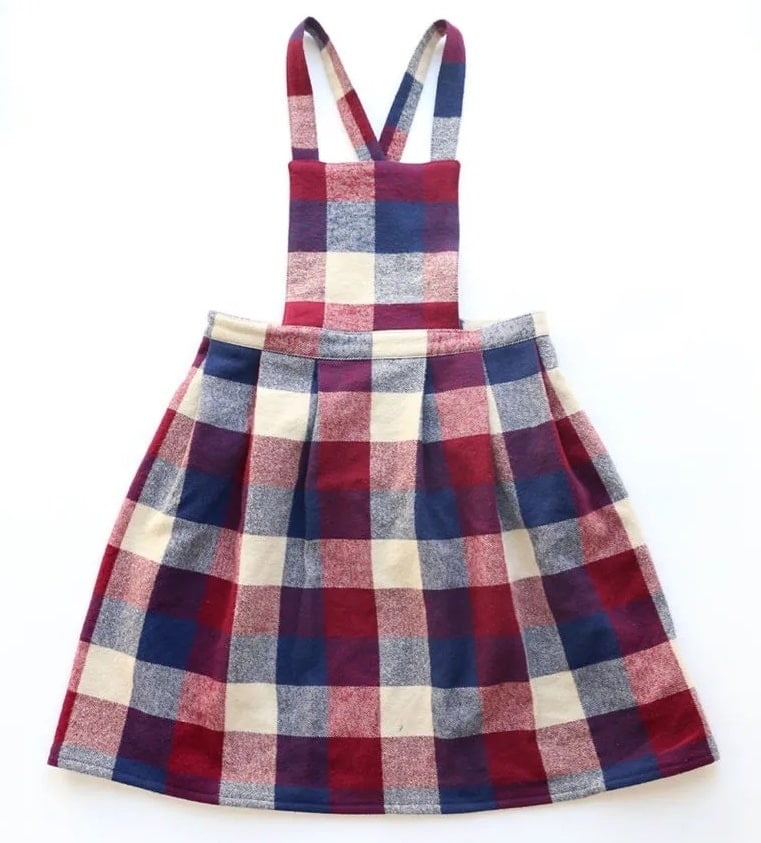 Pinafore dress pattern how to make