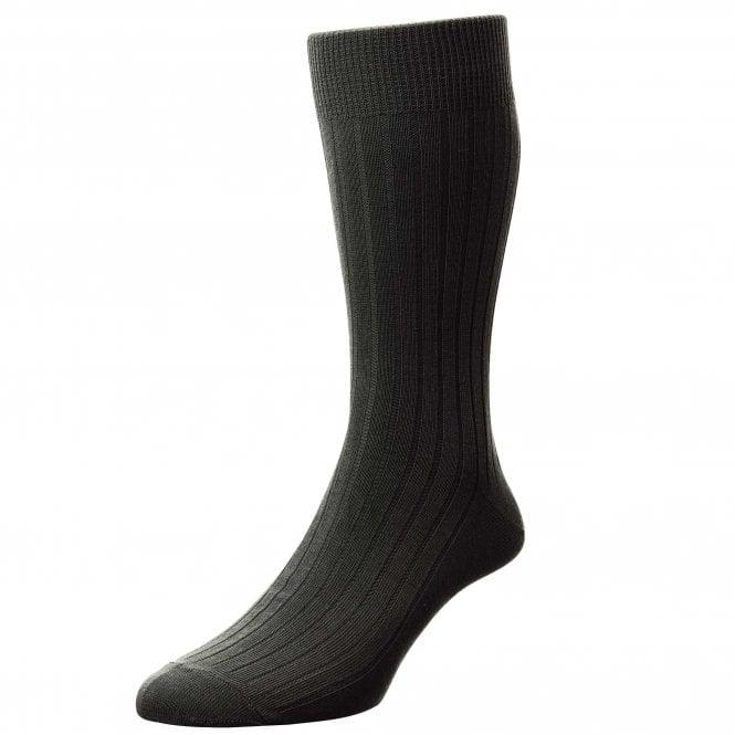 Plain charcoal grey ribbed mens socks classic rib executive socks