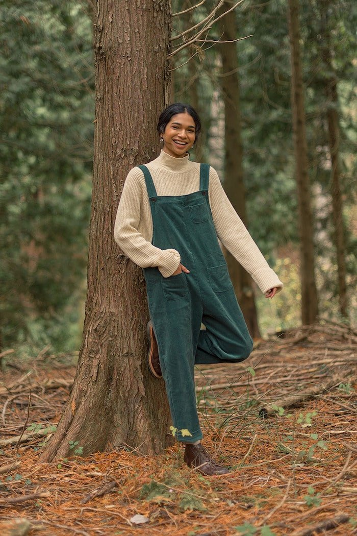 Pocket point curduroy dungarees