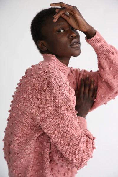 Rose blush popcorn sweater