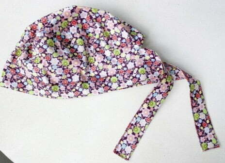 Scrub cap sewing pattern