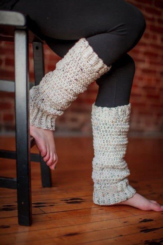 Slouchy crochet leg warmers