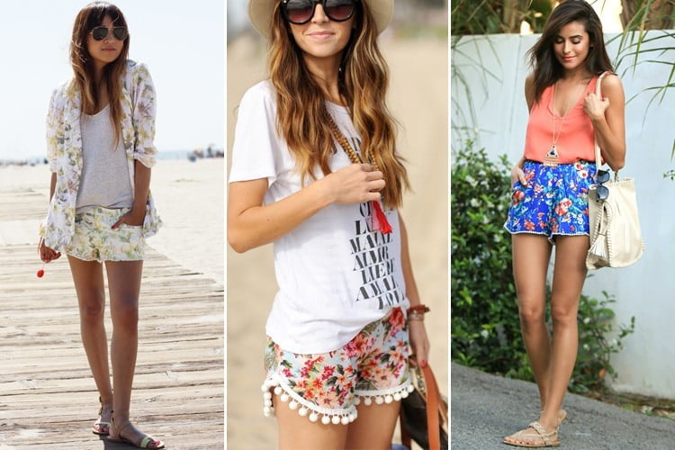 What to wear with floral shorts