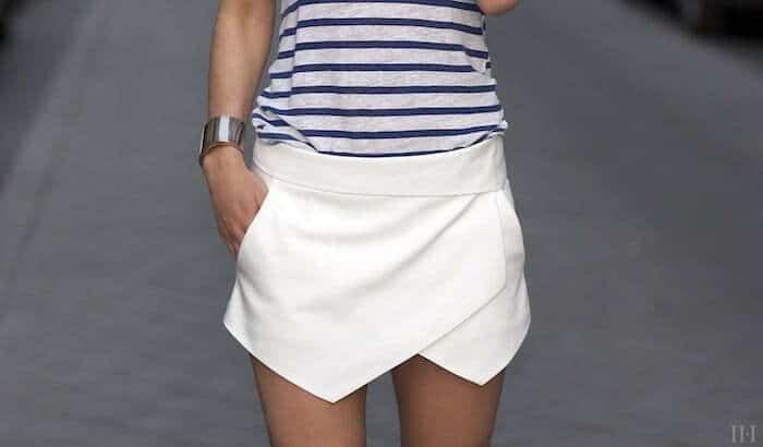 Zara mini white skort