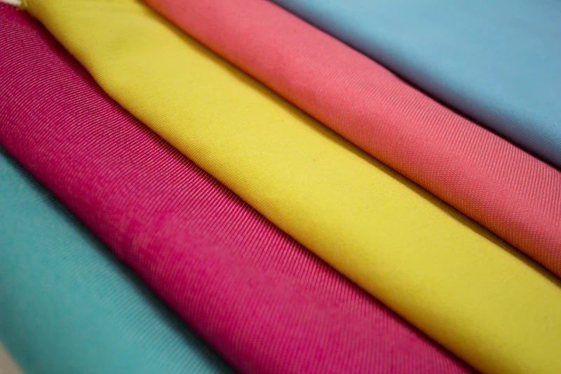 Assorted colors striped textile