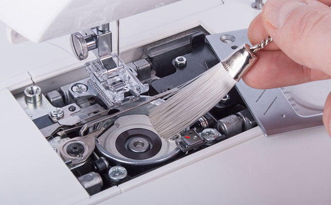 Cleaning sewing machine