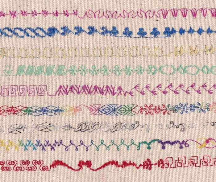 Decorative sewing machine stitches
