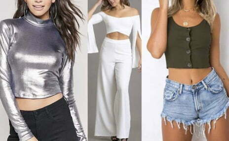 Different types of crop tops for women