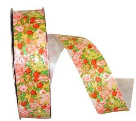 Floral print ribbon