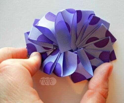 Folded grosgrain flower