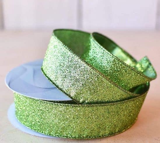 Green glitter ribbon