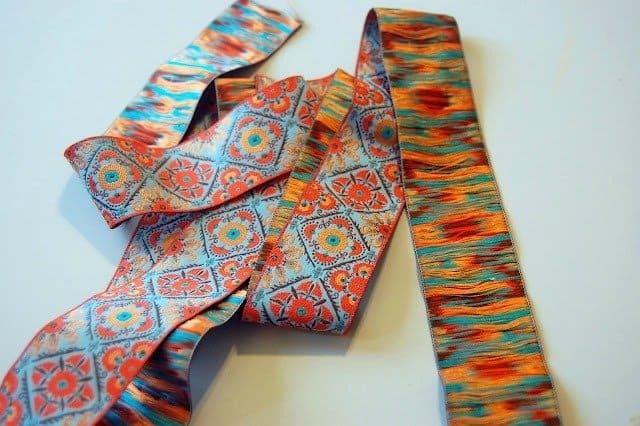 Jacquard ribbon belt