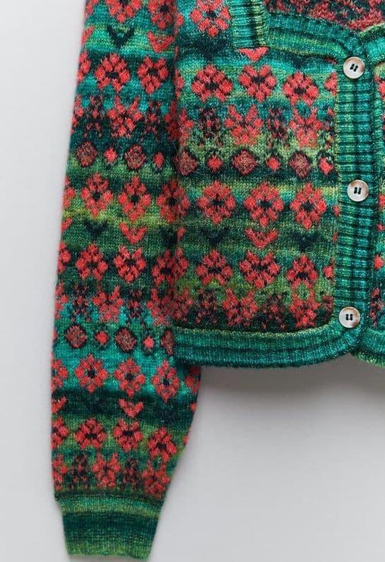 Knit jacquard jacket